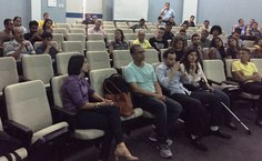Comunidade acadêmica presente ao evento